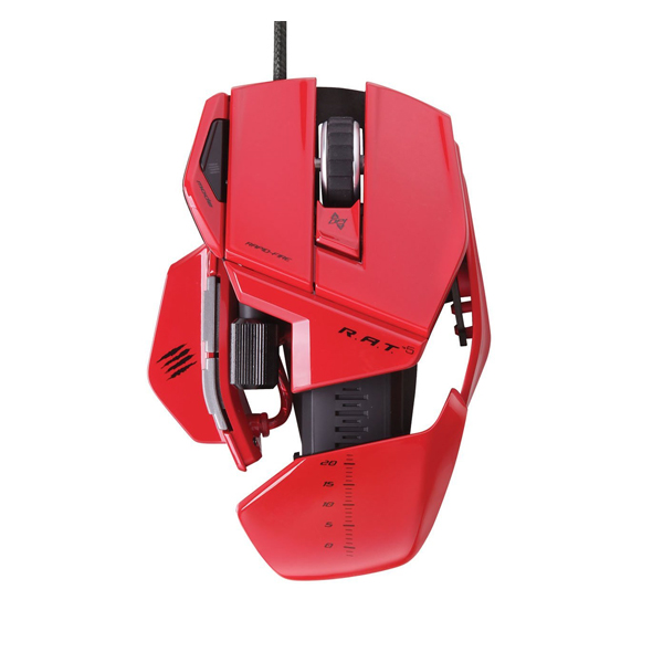 Mad Catz R A T 5 Gaming Mouse - Red