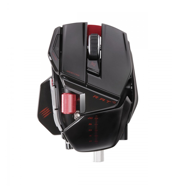 Mad Catz R A T 9 Mouse - Gloss Black